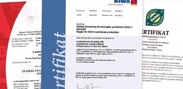 Certificats, mills och production sites
